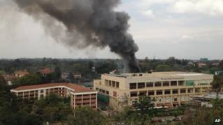 Fumaça no shopping de Westgate