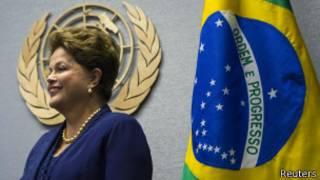 DIlma Rousseff nas Nações Unidas (foto: Reuters)