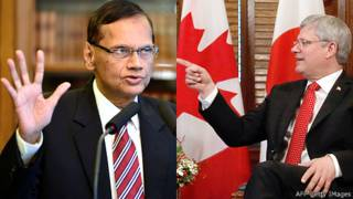 G. L. Peiris and Stephen Harper