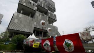 Protesto na Petrobras (Foto Getty)