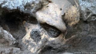 Tengkorak yang ditemukan di Georgia