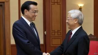 Thủ tướng Trung Quốc Lý Khắc Cường và Tổng Bí thư Nguyễn Phú Trọng