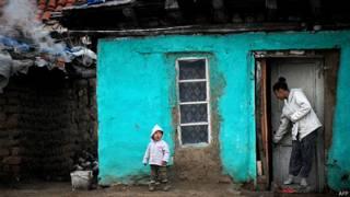 Niños gitanos en Rumania