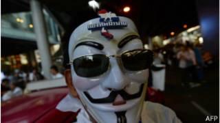 Manifestante tailandés