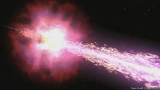 Reproducción gráfica de la explosión de rayos gamma