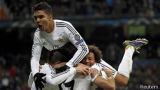 Jugadores del Real Madrid celebran