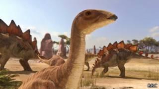 Ilustración de dinosaurios