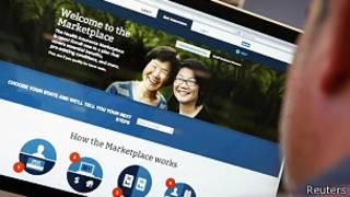 Sitio web Obamacare