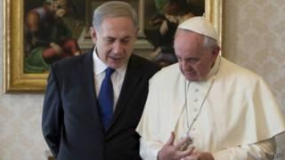 Benjamin Netanyahu dan Paus Fransiskus