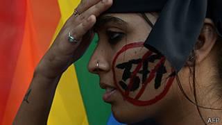 Activistas por los derechos gays en India