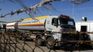 Camiones de combustible ingresando a Gaza