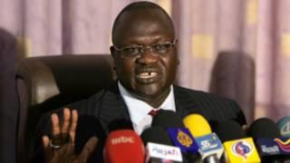 Le chef rebelle Riek Machar,  dont le fief serait aux mains de l'armée gouvernementale