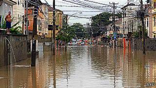 Inundación en Río de Janeiro