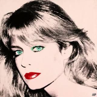 Retrato de Farrah Fawcet pintado por Andy Warhol