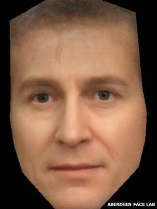O rosto combinado (crédito: Aberdeen Face Lab)