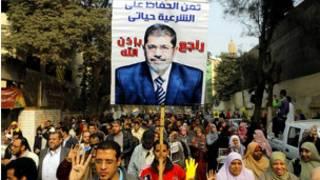 Simpatizantes de Mohamed Morsi