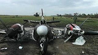 Foto de avioneta derribada inmovilizada publicada en @VladimirPadrino