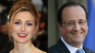 Julie Gayet y Francois Hollande