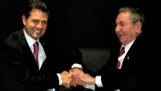 Presidentes de México y Cuba, Enrique Peña Nieto y Raúl Castro. Foto Presidencia de México