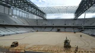 Obras da Arena da Baixada estão 90% concluídas / Crédito da foto: CAP/SA