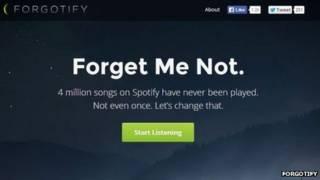 Página de Forgotify