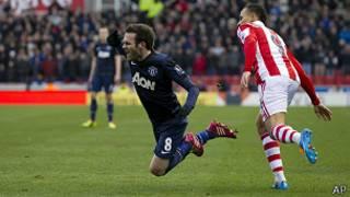 Juan Mata, jugador del Manchester United