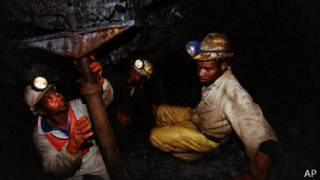 Mineros de Harmony Gold