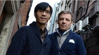 李博荣(左)与吉尔