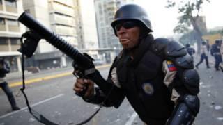 Policía venezolano