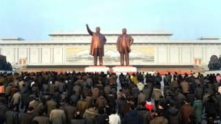 Culto a líderes na Coreia do Norte (AFP)
