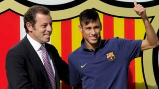Sandro Rosell dan Neymar