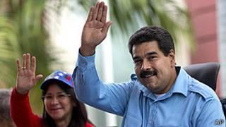 Nicolás Maduro y su esposa Cilia Flores