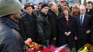 Кэтрин Эштон на Майдане в Киеве