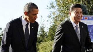Barack Obama y Xi Jinping en 2013