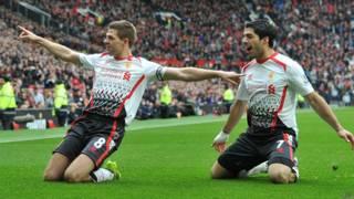 Steven Gerrard y Luis Suárez