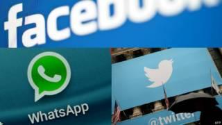 फ़ेसबुक, ट्विटर, व्हाट्सऐप