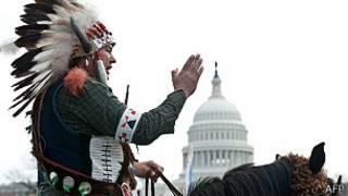 protesta de indígenas y vaqueros en el Capitolio