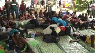 Abrigo em Brasiléia que foi desativado (BBC)