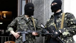 Separatistas en Luhansk