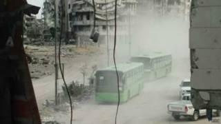 Evacuación en Homs