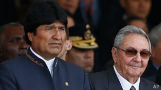 Evo Morales, Raul Castro