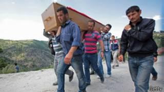 Funeral mineros Turquía