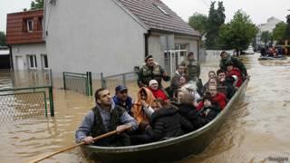 Inundaciones en Bosnia y Serbia