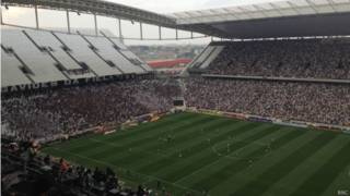 Teste da Fifa na Arena Corinthians / Crédito da foto: Renata Mendonça / BBC