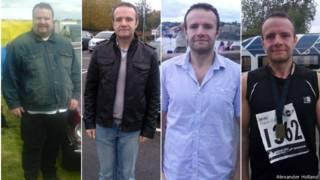 Alexander Holland antes y después de bajar de peso