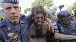 Protestas en Brasil