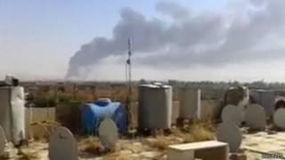 Imágenes de un video aficionado de los enfrentamientos en la refinería