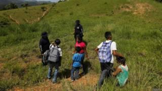 Menores inmigrantes hondureños