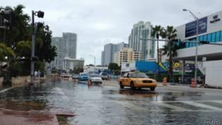 Inundación en Miami Beach