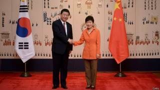 Xi Jinping y Park Geun-Hye
